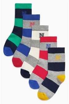 Multi Rugby Stripe Socks Four Pack (Older Boys)