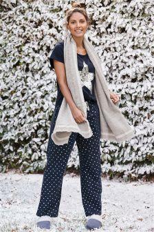 Navy Foil Star Pyjamas