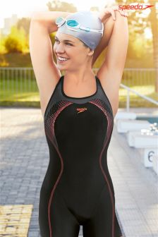 Speedo® Black/Red Fit Legsuit Kickback