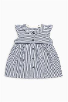 Ecru/Navy Stripe Dress (0mths-2yrs)