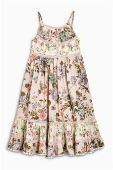 Pink Printed Maxi Dress (3-16yrs)