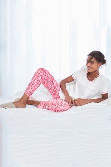 Pink Valentine Jersey Pyjamas