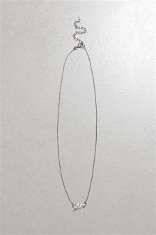 Sterling Silver 'Mrs' Necklace