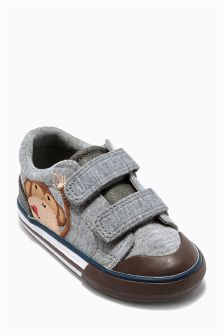 Grey Monkey Vulcanised Shoes (Younger Boys)