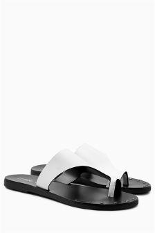 Toe Loop Mule Sandals