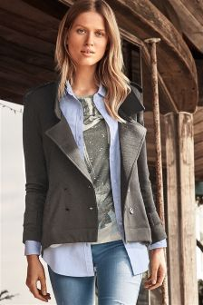 Charcoal Trench Jacket