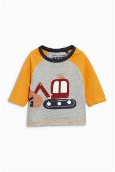 Appliqué Long Sleeve T-Shirt (3mths-6yrs)