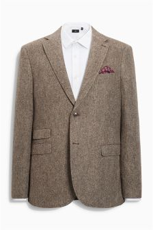 Taupe Donegal Tailored Fit Jacket