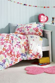 2 Pack Watercolour Butterfly Print Bed Set