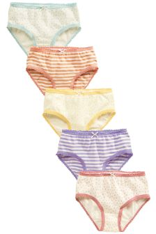 Multi Pastel Spot Briefs Five Pack (1.5-16yrs)