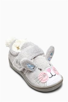 Grey Bunny Slipper (Younger Girls)