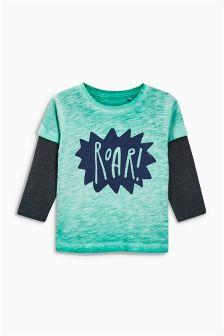 Green Long Sleeve Roar T-Shirt (3mths-6yrs)