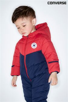 Converse Navy/Red Colourblock Snowsuit