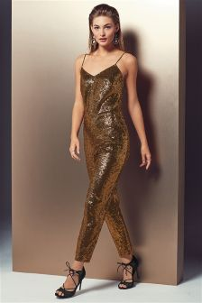 Bronze Sequin Jumpsuit