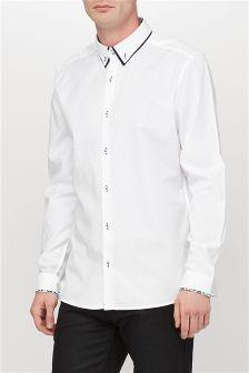White Double Collar Shirt