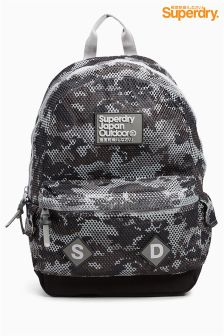 Black Superdry Black Camo Rucksack