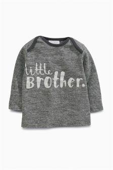 Grey /Ecru Little Brother T-Shirt (0mths-2yrs)