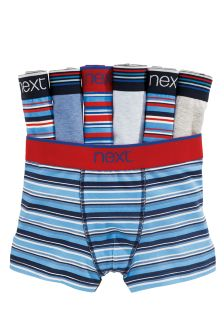 Blue Stripe Trunks Seven Pack (2-16yrs)