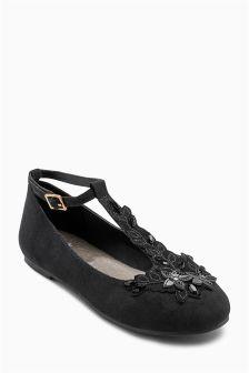 Flower T-Bar Shoes (Older Girls)
