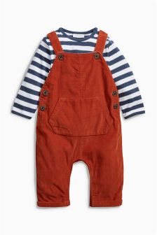 Ginger Cord Dungarees (0mths-2yrs)