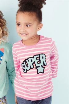 Pink Super Stripe T-Shirt (3mths-6yrs)