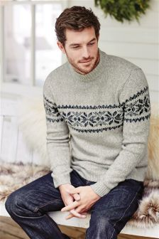 White Snowflake Turtle Neck Christmas Jumper