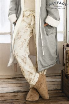 Fat Face Ivory Winter Stag Classic Pyjama Bottom