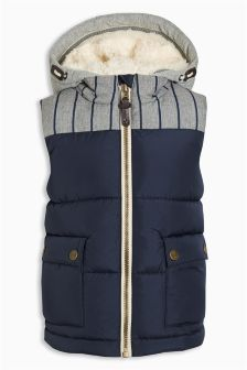 Navy Hooded Gilet (3mths-6yrs)