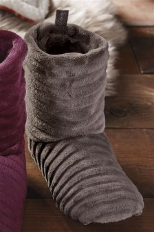 Mink Ripple Slipper Boots