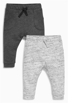 Grey Joggers Two Pack (0mths-2yrs)
