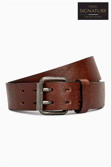 Tan Signature Collaboration Italian Leather Casual Belt