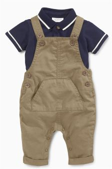 Neutral Dungarees (0mths-2yrs)