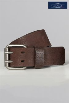 Brown Signature Collaboration Italian Leather Casual Belt
