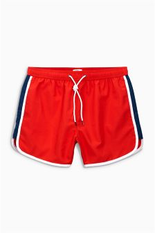 Red Runner Swim Shorts
