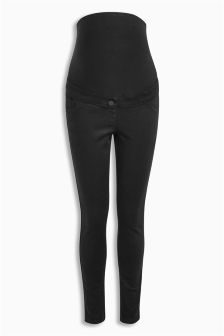 Black Maternity Skinny Over The Bump Jeans