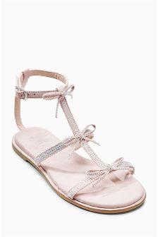 Embellished Jewel Bow Sandals (Older Girls)