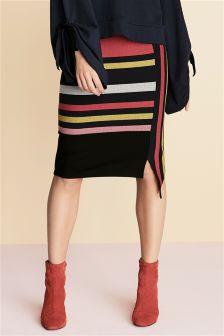 Navy Stripe Skirt