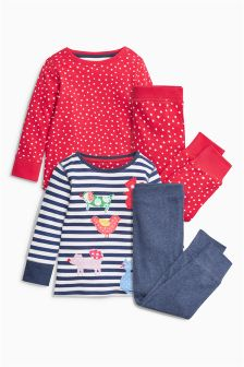 Navy/Red Character Snuggle Pyjamas Two Pack (9mths-8yrs)