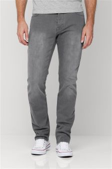 Mid Grey Jeans With Stretch