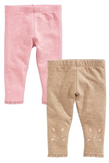 Pink/Mink Leggings Two Pack (0mths-2yrs)