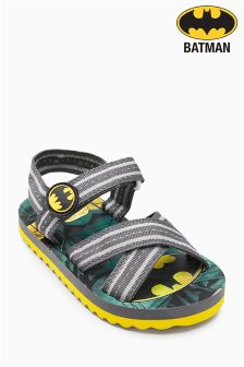 Black Batman® Flip Flops (Younger Boys)