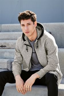 Grey Sport Zip Through Hoody