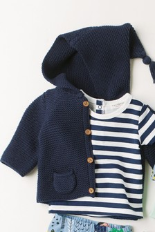 Navy Hooded Cardigan (0mths-2yrs)