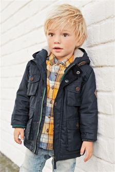 Navy Four Pocket Waxy Jacket (3mths-6yrs)
