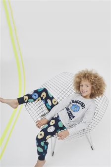 Grey/Navy Doughnut Pyjamas (3-16yrs)