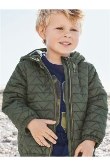 Khaki Quilted Jacket (3mths-6yrs)