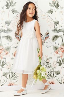 Ivory Corsage Bridesmaid Dress (3mths-16yrs)