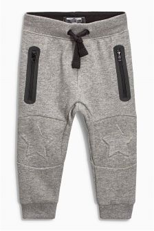 Grey Star Embossed Knee Joggers (3mths-6yrs)