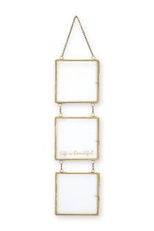 3 Aperture Hanging Metal Frame
