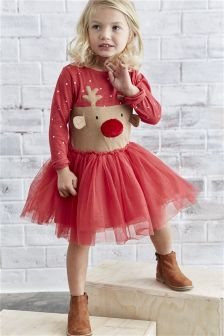 Red Christmas Dress (3mths-6yrs)